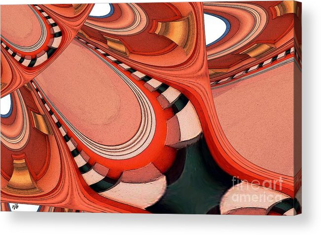 Ceiling Acrylic Print featuring the digital art Ceiling Feeling by Ron Bissett