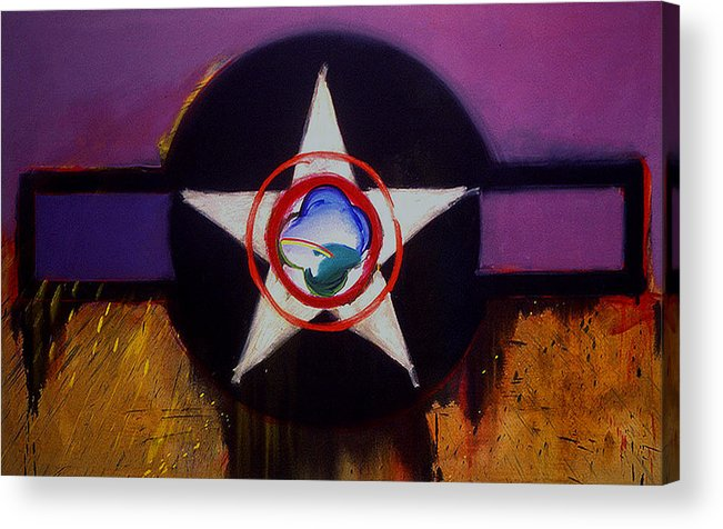 Air Force Insignia Acrylic Print featuring the painting Cheyenne Autumn by Charles Stuart