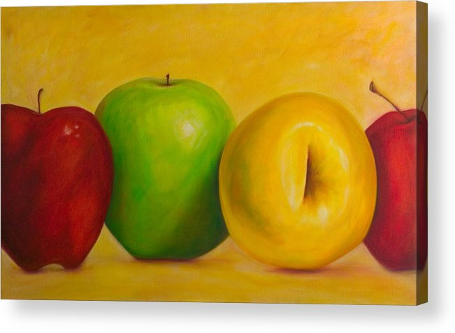 Still Life Acrylic Print featuring the painting Chorus Line by Shannon Grissom