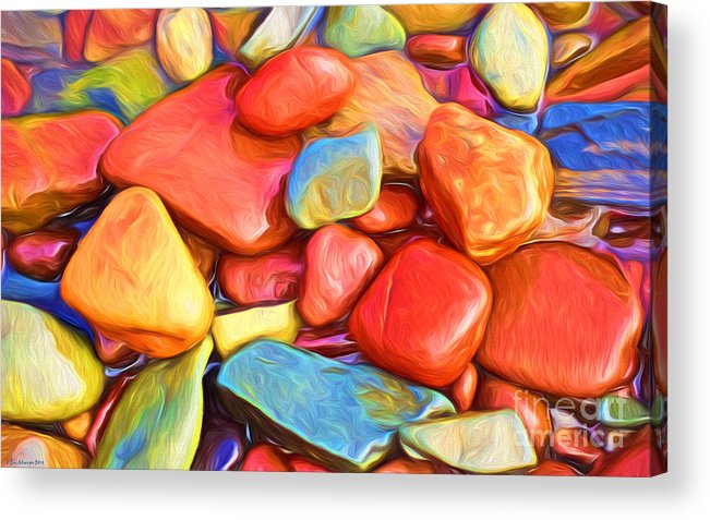 Abstract Acrylic Print featuring the painting Colorful Stones by Veikko Suikkanen