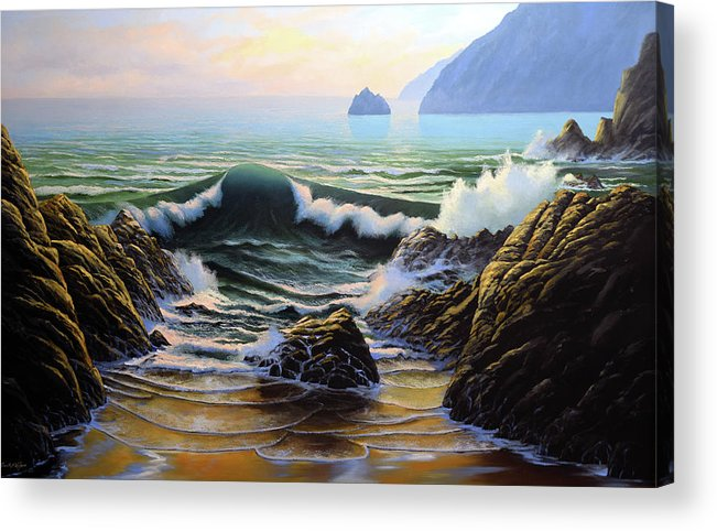 Dancing Tide Acrylic Print featuring the painting Dancing Tide by Frank Wilson