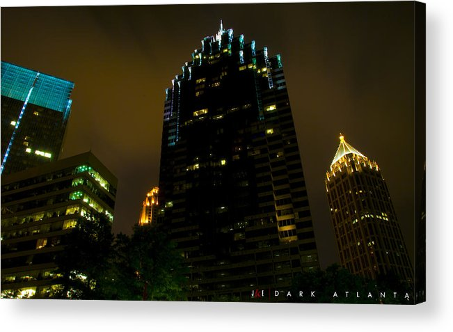 Atlanta Acrylic Print featuring the photograph Dark Atlanta by Jonathan Ellis Keys