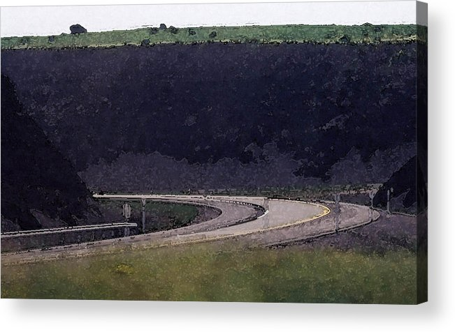 Landscape Acrylic Print featuring the photograph Dark Rock Cut Out Wc 2 by Lyle Crump