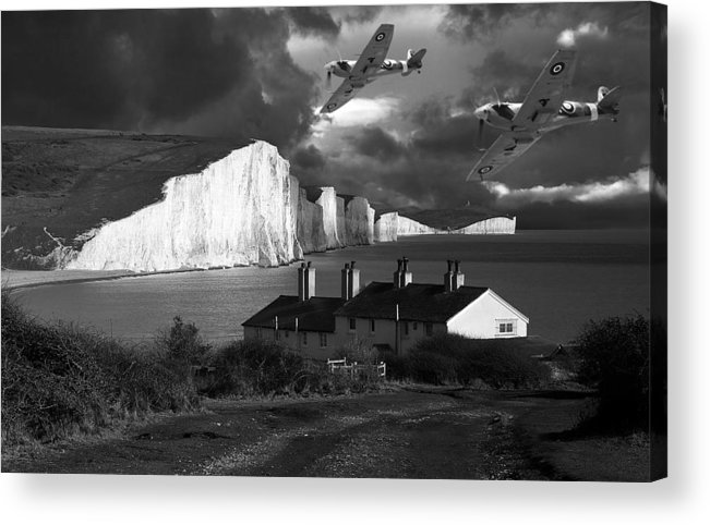 Spitfire Acrylic Print featuring the photograph Dawn Patrol by Kris Dutson
