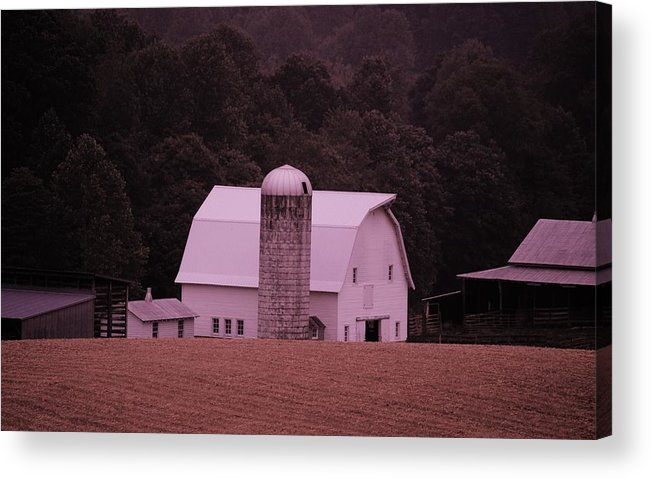 Barn Acrylic Print featuring the photograph Down On The Farm by Eric Liller