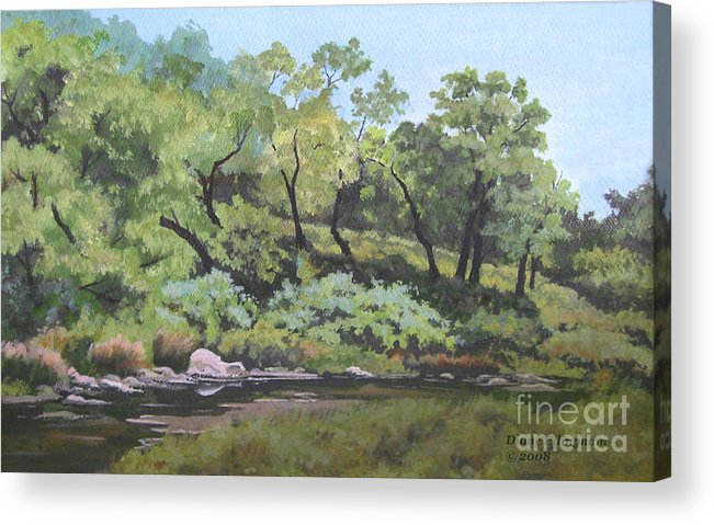 Nature Acrylic Print featuring the painting Dreaming By The Creek by Diane Ellingham