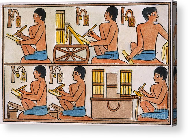 27th Century B.c. Acrylic Print featuring the photograph Egyptian Scribes by Granger