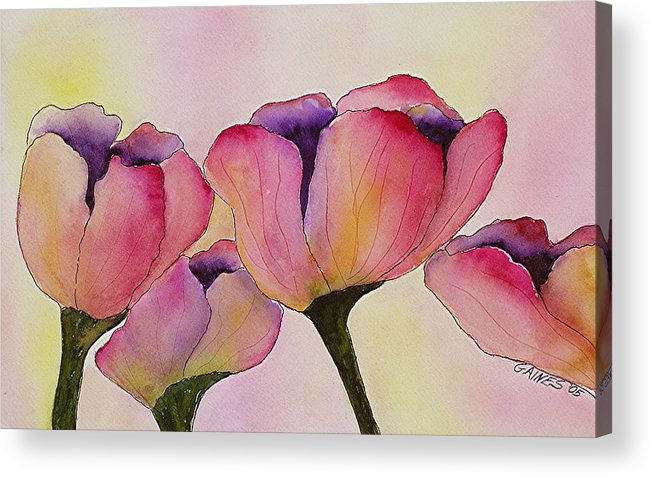 Tulips Acrylic Print featuring the print Elegant Tulips by Mary Gaines