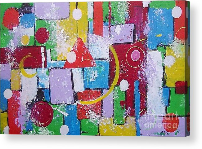 Abstract Acrylic Print featuring the painting Energie Field by Anita Dielen