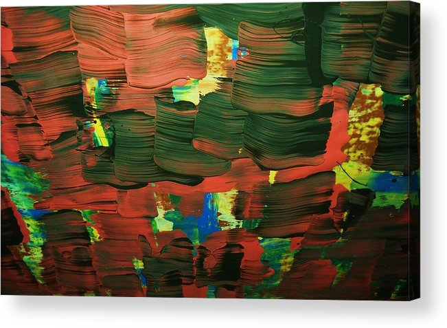 Abstract-intense Acrylic Print featuring the painting ..favella.-series.... by Adolfo hector Penas alvarado