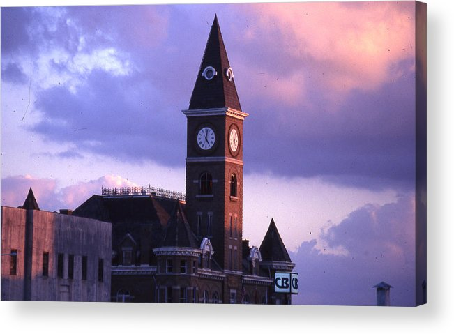 Acrylic Print featuring the photograph Fayetteville Courthouse by Curtis J Neeley Jr