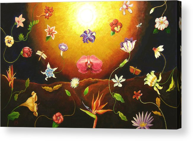 Acrylic Print featuring the painting Flor Nocturna by Paul Sierra