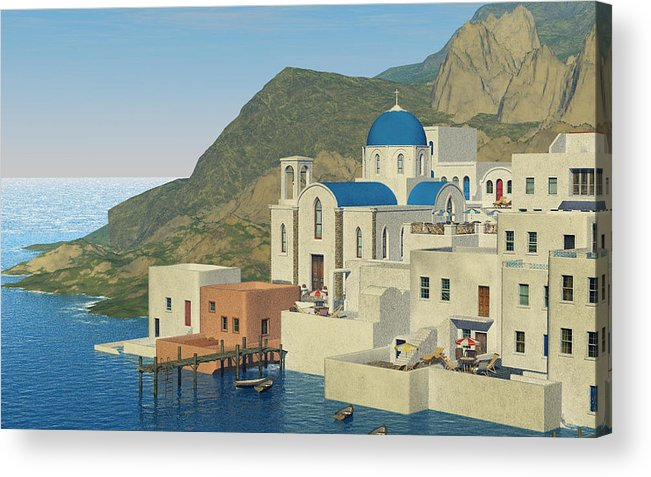 Greece Acrylic Print featuring the digital art From Greece by Margaret Wingstedt
