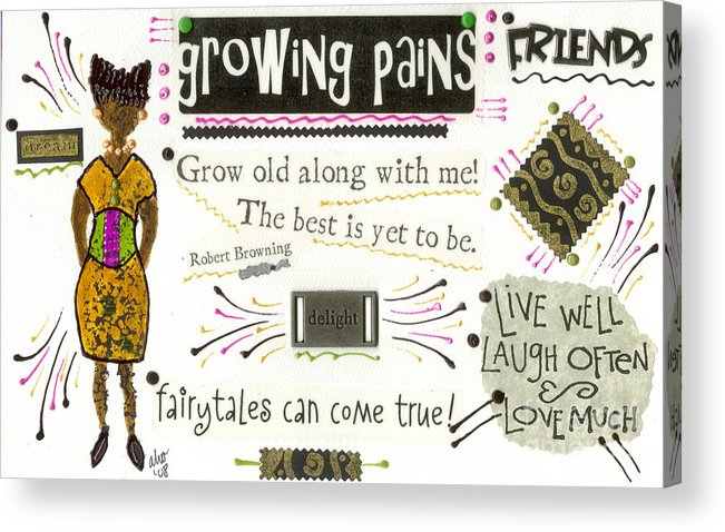 Gretting Cards Acrylic Print featuring the mixed media Grow Old With Me by Angela L Walker