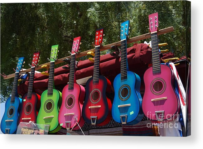 Guitars Acrylic Print featuring the photograph Guitars In Old Town San Diego by Anna Lisa Yoder