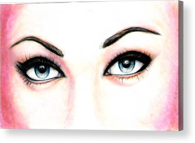 Eyes Acrylic Print featuring the drawing I See You by Scarlett Royal