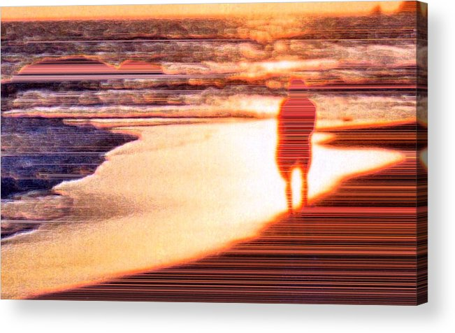 Landscape Acrylic Print featuring the photograph Into The Sunset 6 by Lyle Crump