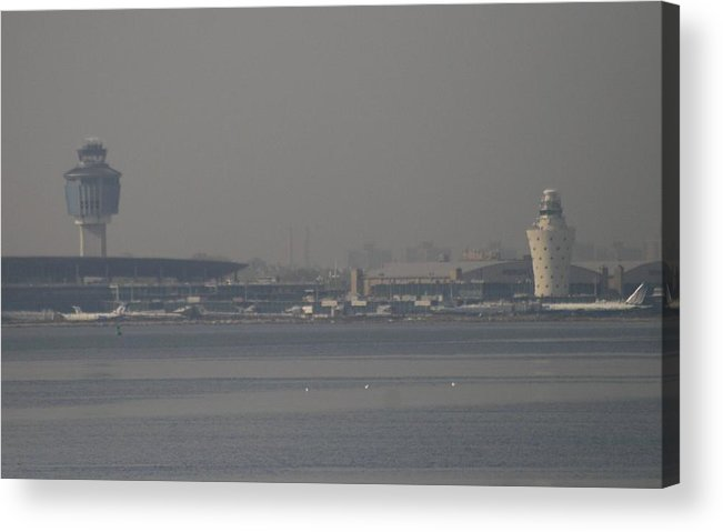 La Guardia Airport Acrylic Print featuring the photograph La Guardia From The Bronx by Christopher Kirby