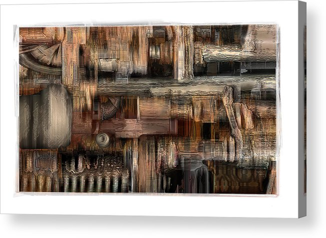 Still Life Acrylic Print featuring the digital art Lathe by Nuff