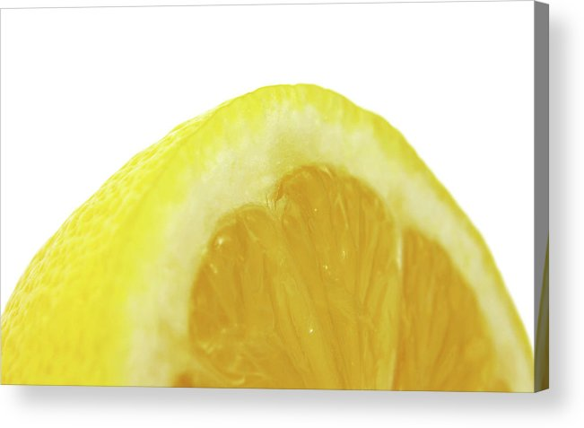 Lemon Acrylic Print featuring the digital art Lemon by Mery Moon