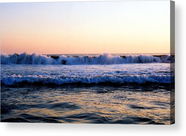 Zipolite Acrylic Print featuring the photograph Light On The Wave Tops 4 by Lyle Crump