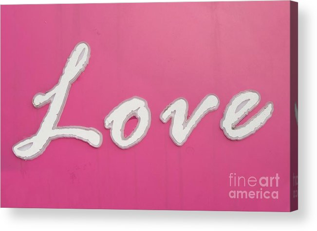 Sign Acrylic Print featuring the photograph Love Sign by Yali Shi