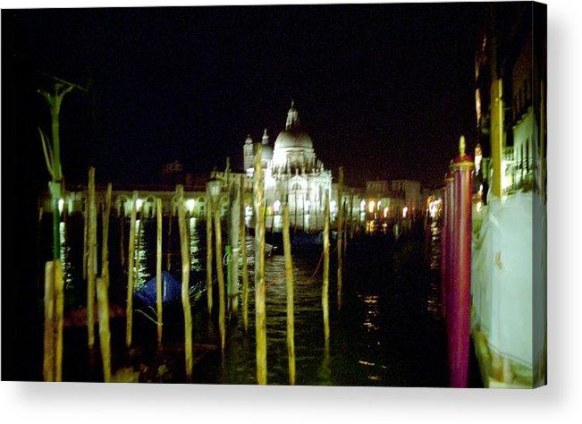 Venice Acrylic Print featuring the photograph Maria Della Salute In Venice At Night by Michael Henderson