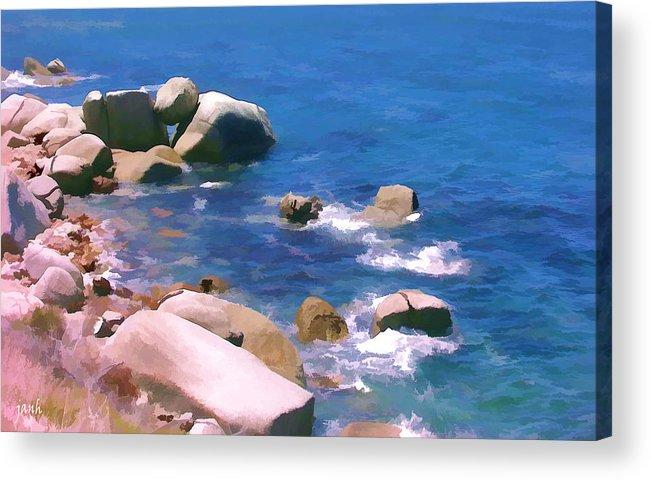 Sea Acrylic Print featuring the digital art Miller by Jan Hattingh