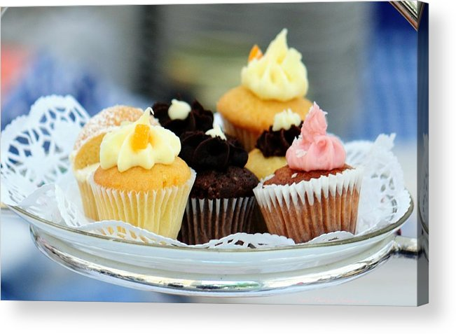 Cupcakes Acrylic Print featuring the photograph Mini Cupcakes 7813 by PhotohogDesigns