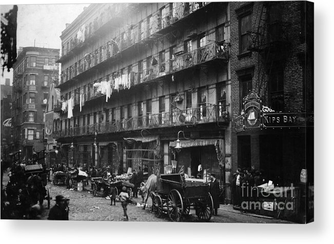 1912 Acrylic Print featuring the photograph New York: Tenements, 1912 by Granger