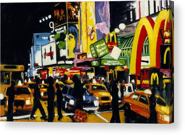 New York Acrylic Print featuring the painting Nyc II The Temple Of M by Robert Reeves