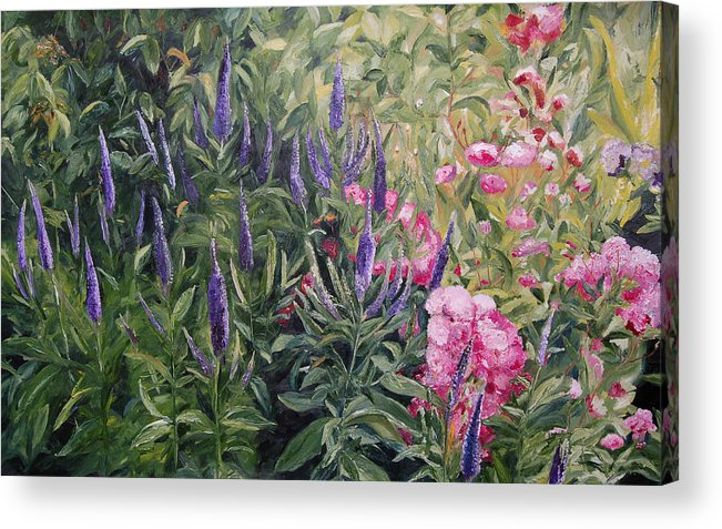 Konkol Acrylic Print featuring the painting Olbrich Garden Series - Garden 2 by Lisa Konkol