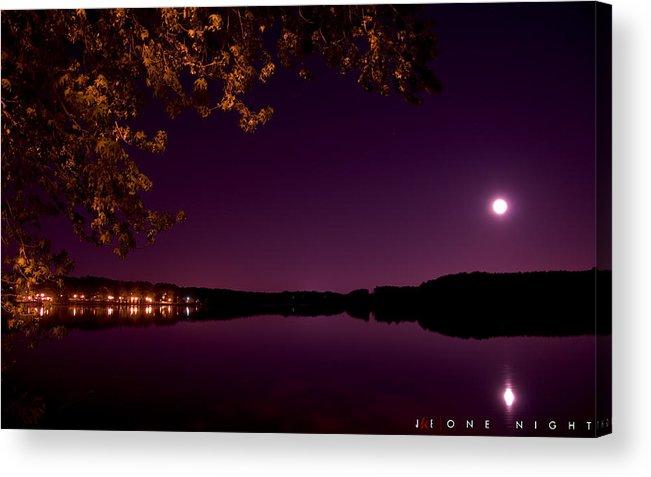 Lake Acrylic Print featuring the photograph One Night by Jonathan Ellis Keys