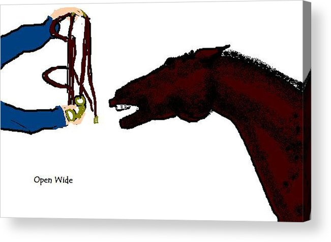 Horse Acrylic Print featuring the digital art Open Wide by Carole Boyd