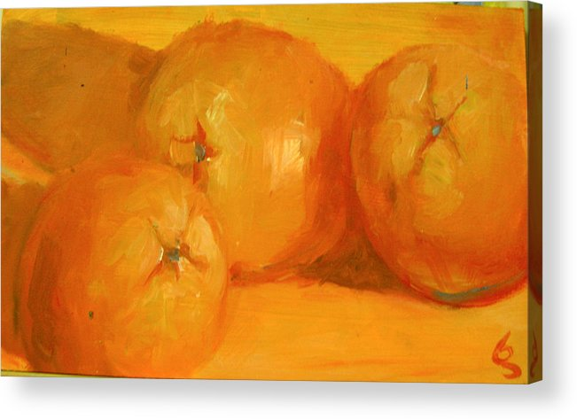 Oranges Acrylic Print featuring the painting Oranges by George Malek