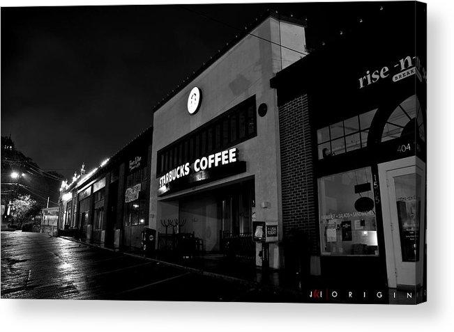 Starbucks Acrylic Print featuring the photograph Origin by Jonathan Ellis Keys