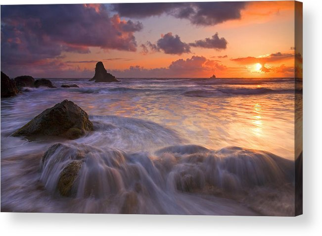 Sunset Acrylic Print featuring the photograph Overcome by Mike Dawson