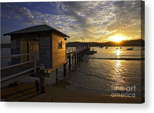 Palm Beach Sydney Australia Sunset Water Pittwater Acrylic Print featuring the photograph Palm Beach Sunset by Sheila Smart Fine Art Photography