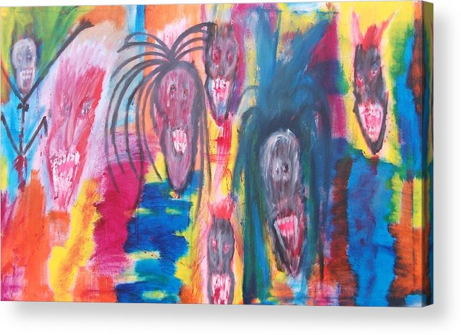 Vampire Acrylic Print featuring the painting Party by Randall Ciotti