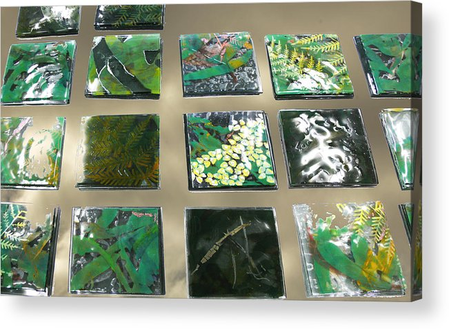 Logging Acrylic Print featuring the mixed media Rainforest Tile Prints by Sarah King