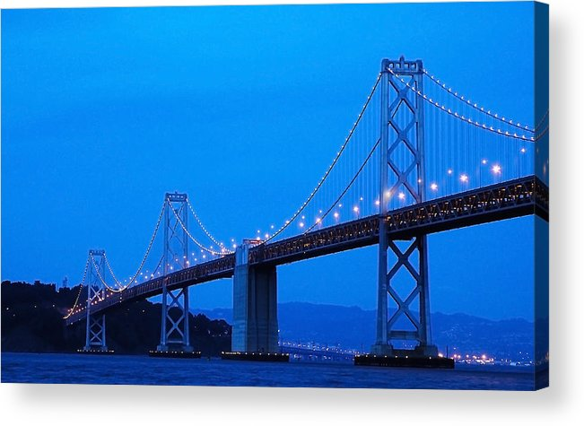 San Francisco Acrylic Print featuring the photograph San Francisco Bay Bridge by Mick Burkey
