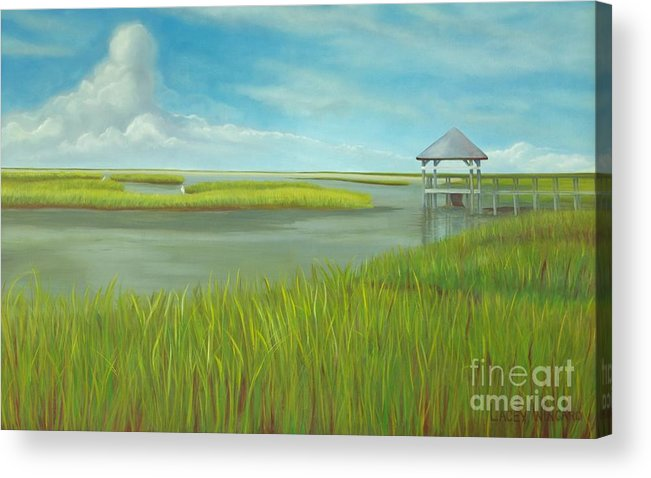 Intracoastal Acrylic Print featuring the painting Serenity by Lacey Wingard