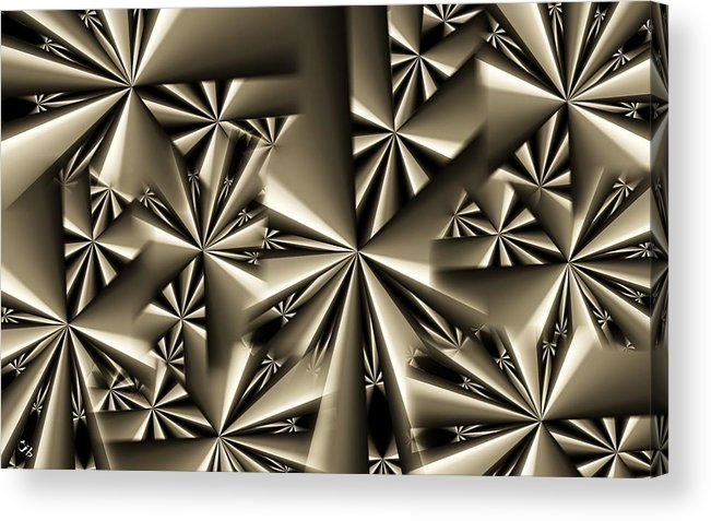 Abstract Acrylic Print featuring the digital art Shurikens by Ron Bissett