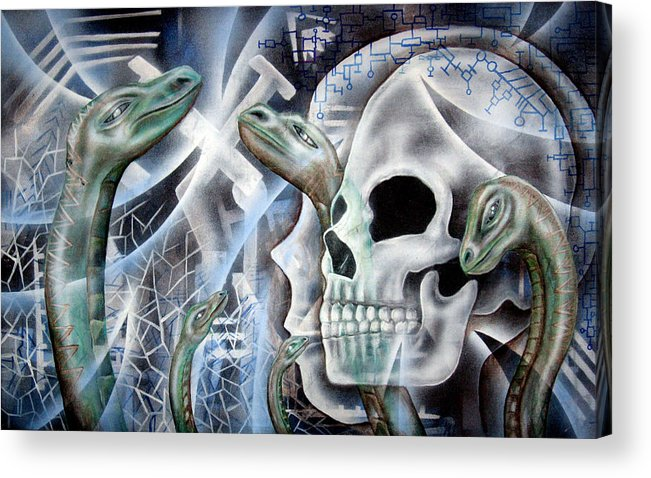 Snake  Acrylic Print featuring the painting Snake Creation by Leigh Odom