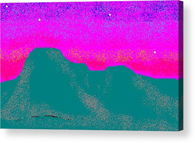 Sunset Acrylic Print featuring the digital art Sunset by Carole Boyd