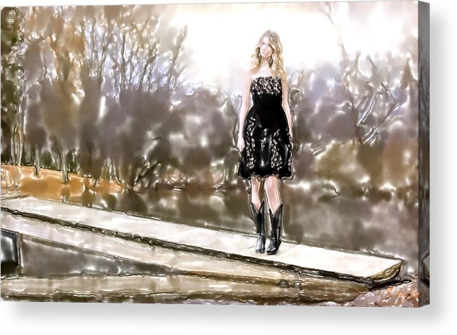 Watercolor Acrylic Print featuring the mixed media Taylor Swift Watercolor by Lyriel Lyra