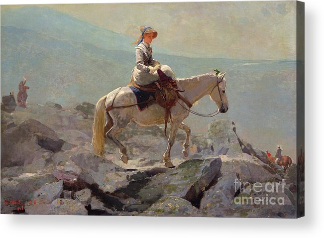 The Bridal Path Acrylic Print featuring the painting The Bridal Path by Winslow Homer