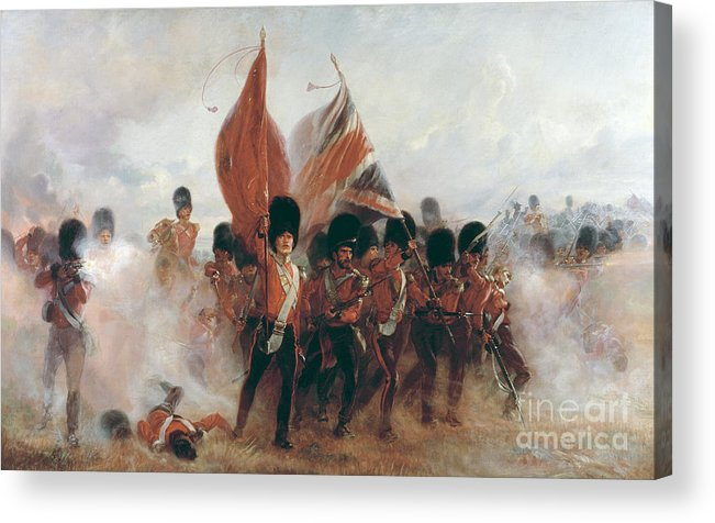 War Acrylic Print featuring the painting The Colours by Elizabeth Southerden Thompson