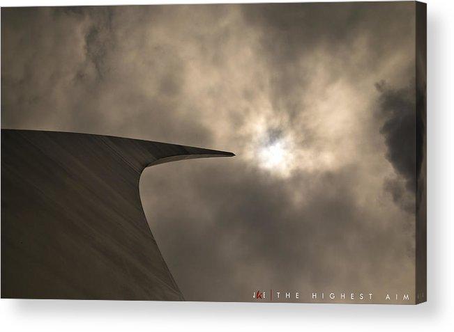 Air Force Acrylic Print featuring the photograph The Highest Aim by Jonathan Ellis Keys