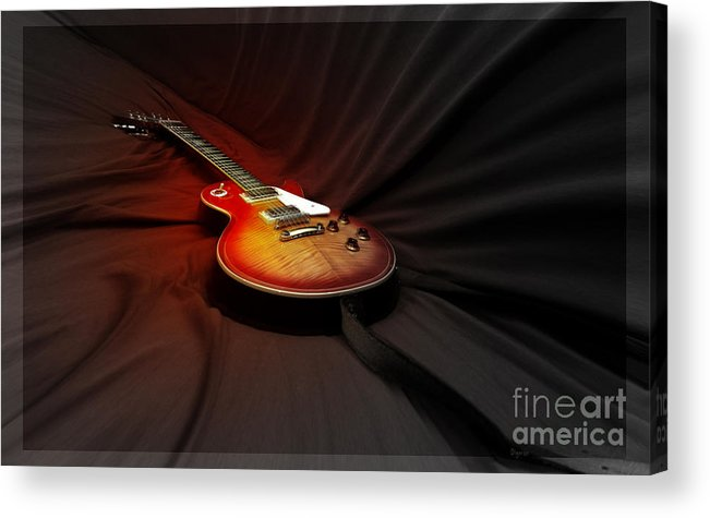 Guitar Acrylic Print featuring the photograph The Les Paul by Steven Digman
